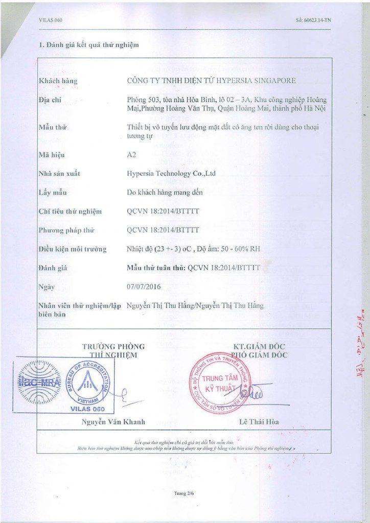 giấy chứng nhận chất lượng của cục đo lường cấp