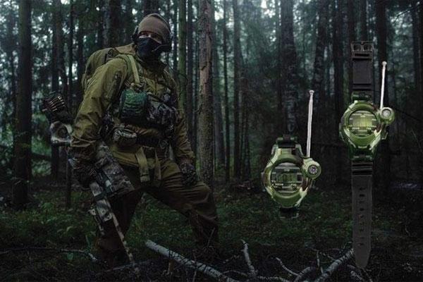 Bộ đàm mini được sử dụng trong công tác quân đội