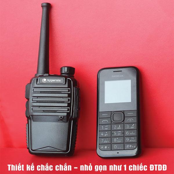 Thiết kế bộ đàm nhỏ gọn như 1 chiếc điện thoại Nokia 1280