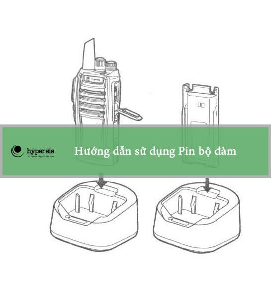 Cách sạc pin bộ đàm