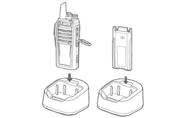 Cách sạc pin máy bộ đàm
