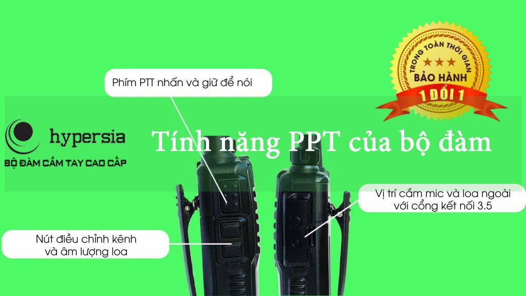 Chức năng của nút  PTT