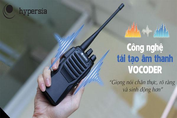 Tính năng Vocoder của bộ đàm A2