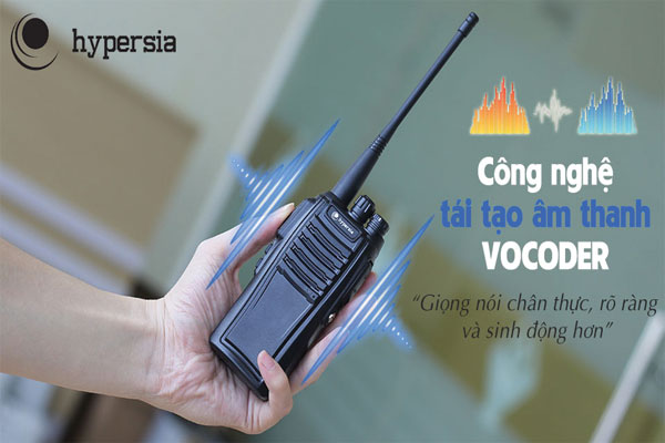 Bộ đàm A1 sử dụng công nghệ tái tạo âm thanh Vocoder tạo cho âm thanh bộ đàm to rõ không bị phản âm