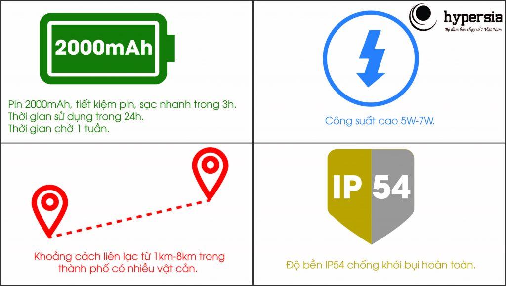 Chú ý đến Pin, Công suất và khoảng cách gọi xa