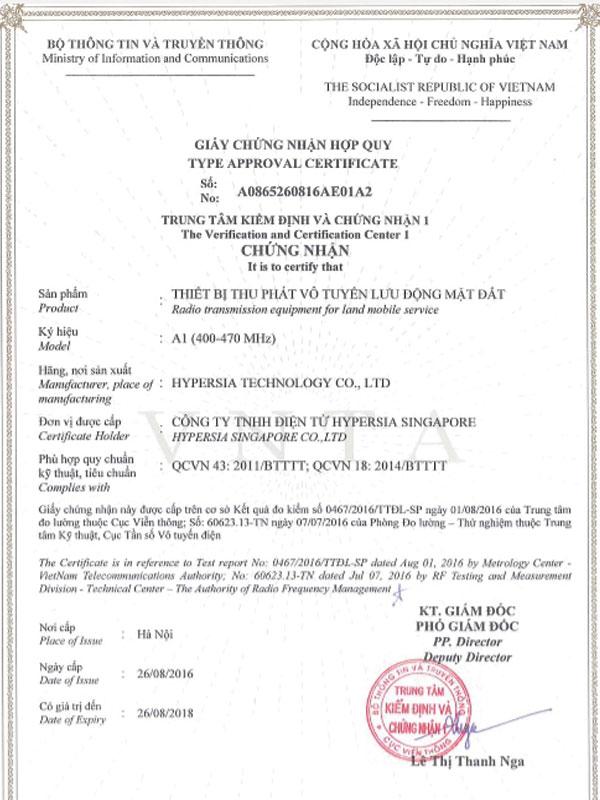 Hồ sơ đăng ký cục tần số của bộ đàm